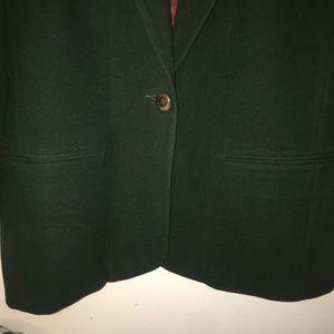 Vintage Jackets & Coats - Vintage Casa Blanca long Hunter Green Blazer